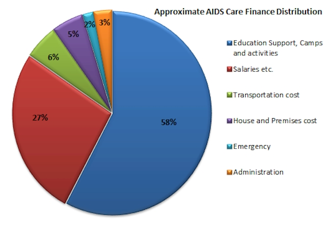 AIDS Care Finances Distribution
